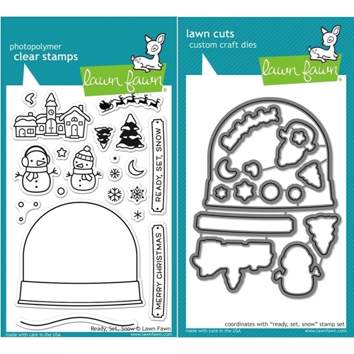 Lawn Fawn SET LF15SETRSS CHRISTMAS SNOWGLOBE Clear Stamps and Dies Preview Image