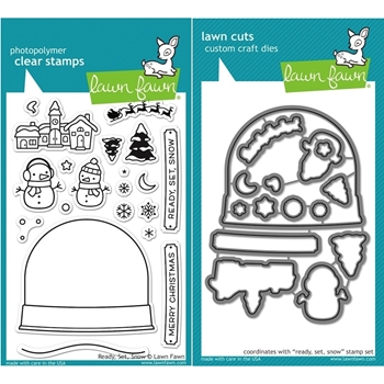 Lawn Fawn SET LF15SETRSS CHRISTMAS SNOWGLOBE Clear Stamps and Dies
