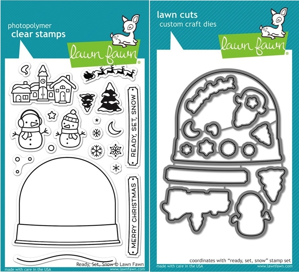 Lawn Fawn SET LF15SETRSS CHRISTMAS SNOWGLOBE Clear Stamps and Dies zoom image