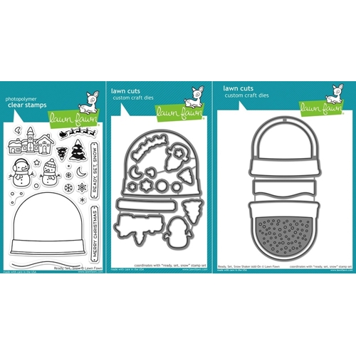 Lawn Fawn SET LF15SETADDON HOLIDAY SNOW GLOBE SHAKER Clear Stamps and Dies Preview Image