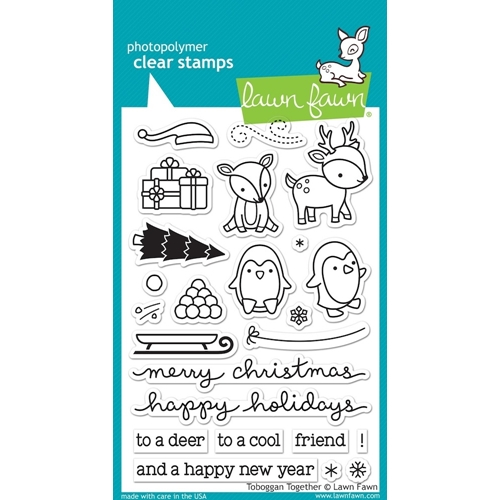 Lawn Fawn Toboggan Together Clear Stamp Set