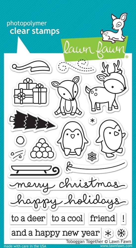 Lawn Fawn TOBOGGAN TOGETHER Clear Stamps LF976