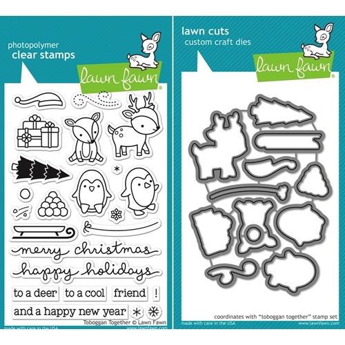 Lawn Fawn SET LF15SETTT SLEDDING PALS Clear Stamps and Dies Preview Image