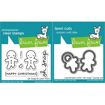Lawn Fawn SET LF15SETOS GINGERBREAD Clear Stamps and Dies