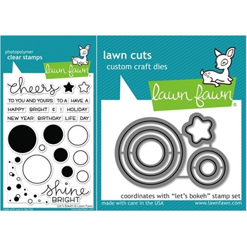 Lawn Fawn SET LF15SETLB SHINE BRIGHT Clear Stamps and Dies