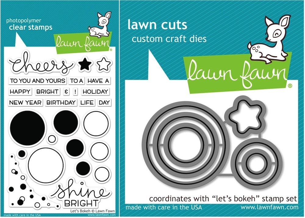 Lawn Fawn SET LF15SETLB SHINE BRIGHT Clear Stamps and Dies zoom image