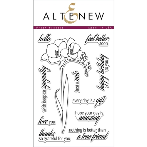 Altenew FRESH FREESIA Clear Stamp Set AN180 Preview Image