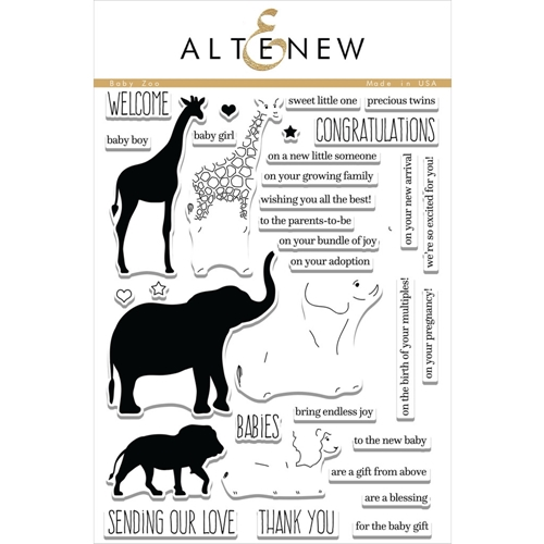 Altenew BABY ZOO Clear Stamp Set ALT1355 Preview Image