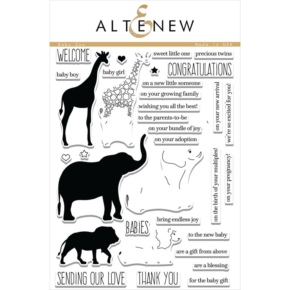 Altenew BABY ZOO Clear Stamp Set ALT1355 zoom image