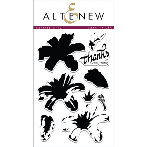 Altenew LAYERED LILY Clear Stamp Set  AN182 Preview Image