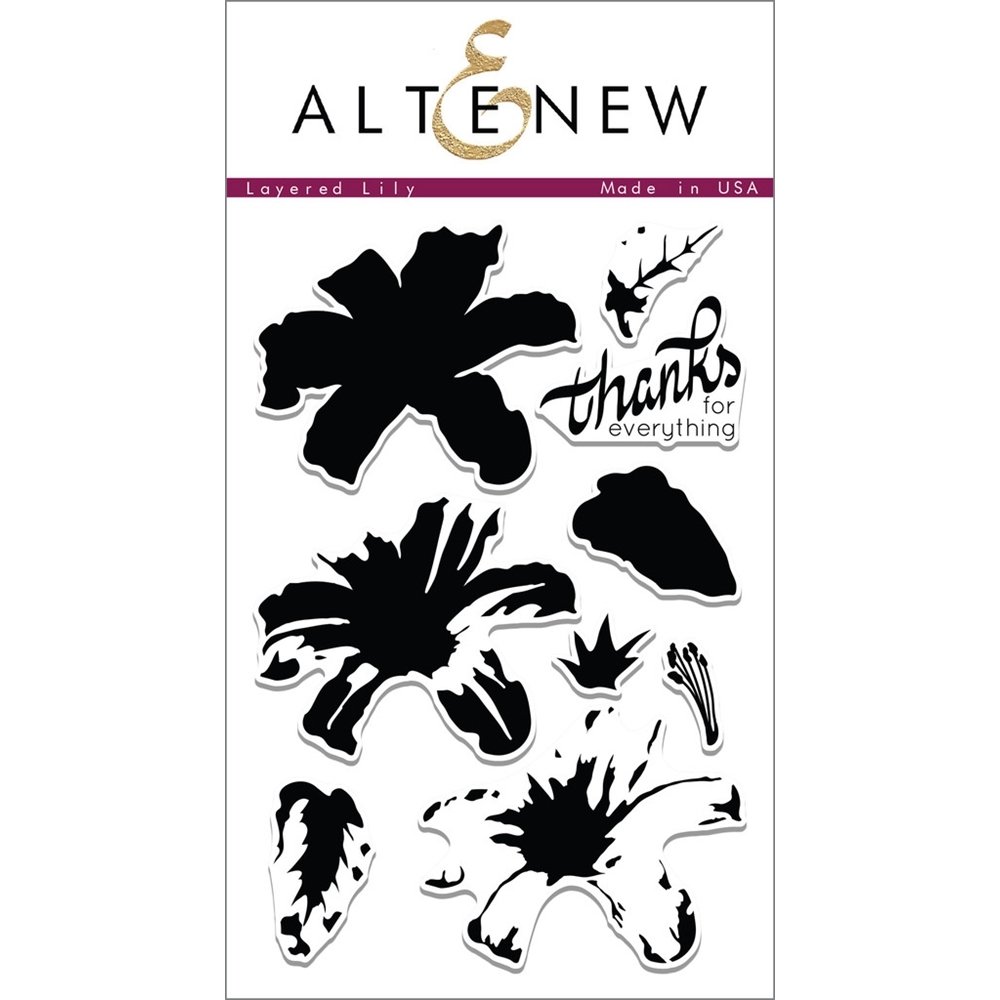 Altenew LAYERED LILY Clear Stamp Set  AN182 zoom image