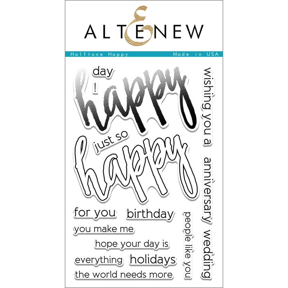 Altenew HALFTONE HAPPY Clear Stamp Set ALT1094 zoom image