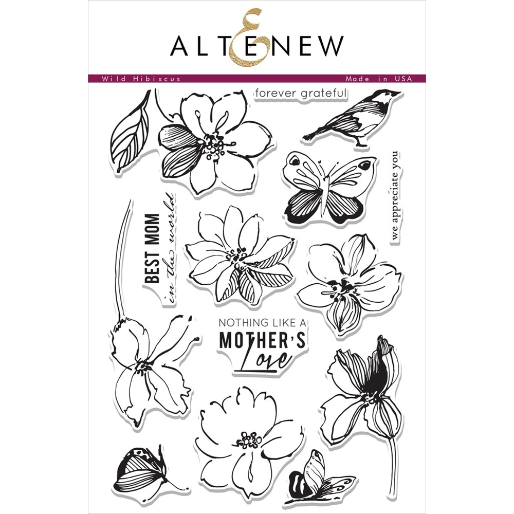 Altenew WILD HIBISCUS Clear Stamp Set AN186 zoom image