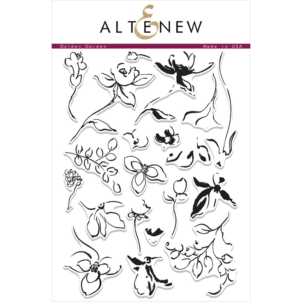 Altenew GOLDEN GARDEN Clear Stamp Set AN187 zoom image