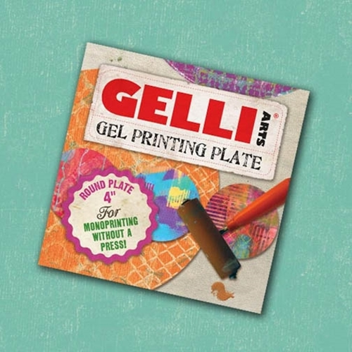 GelliArts 4 x 4 ROUND GEL PRINTING PLATE 821997 Preview Image
