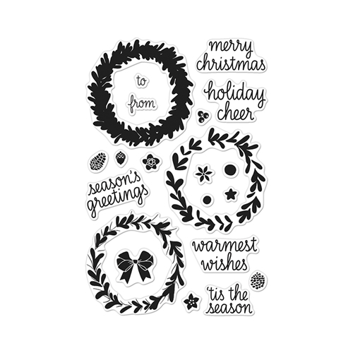 Hero Arts Clear Stamps COLOR LAYERING WREATH CL907 Preview Image