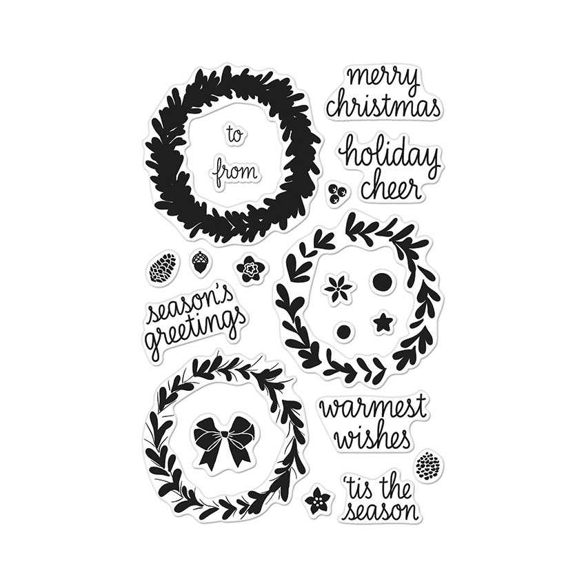Hero Arts Clear Stamps COLOR LAYERING WREATH CL907 zoom image
