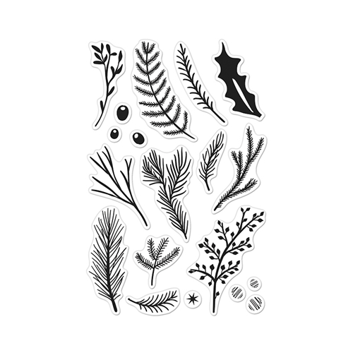 Hero Arts Clear Stamps HOLIDAY PINE BRANCHES CL889 Preview Image