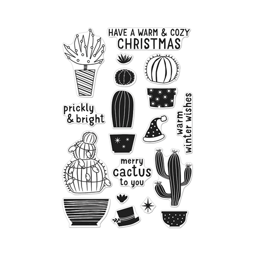 Hero Arts Clear Stamps MERRY CACTUS TO YOU CL909 Preview Image