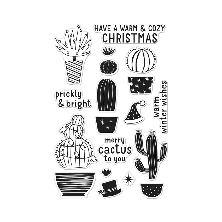 Hero Arts Clear Stamps MERRY CACTUS TO YOU CL909 zoom image