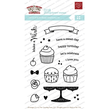 The Greeting Farm MAKE A WISH Clear Stamps TGF203*
