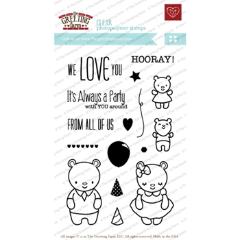 The Greeting Farm ALWAYS A PARTY Clear Stamps TGF205