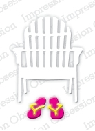 Impression Obsession Steel Die SINGLE BEACH CHAIR Set DIE190-C Preview Image