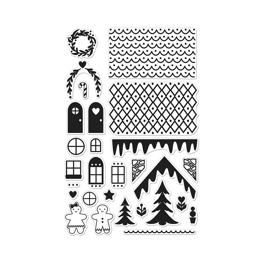 Hero Arts Clear Stamps MAKE A GINGERBREAD HOUSE BY LIA CL895 Lia Griffith zoom image