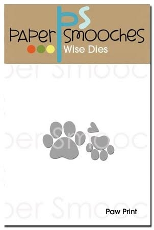 Paper Smooches PAW PRINT Wise Dies A2D255 Preview Image