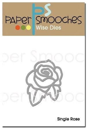 Paper Smooches SINGLE ROSE Wise Die A2D256 Preview Image