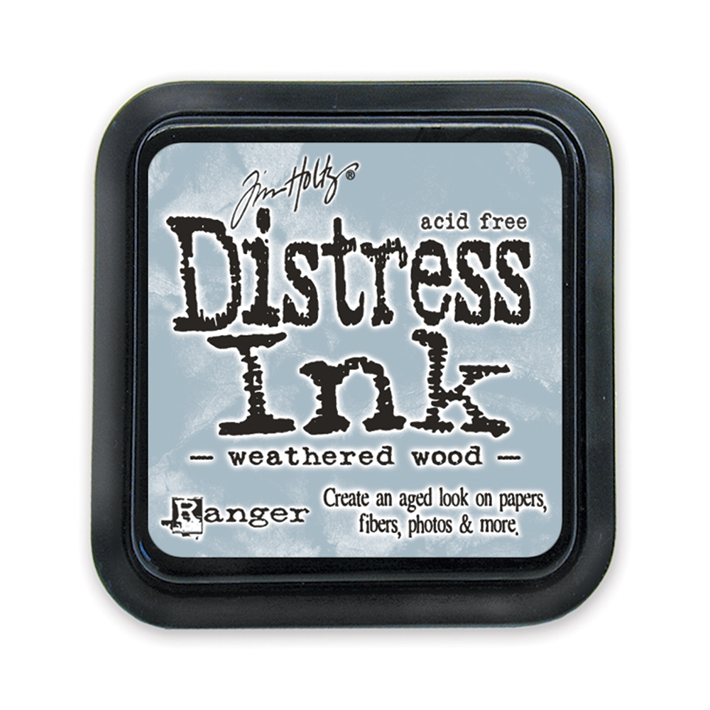Tim Holtz Distress Ink Pad WEATHERED WOOD Ranger TIM20257 zoom image