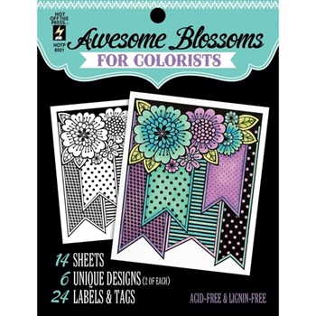 Hot Off The Press AWESOME BLOSSOMS For Colorists Coloring Book 08501
