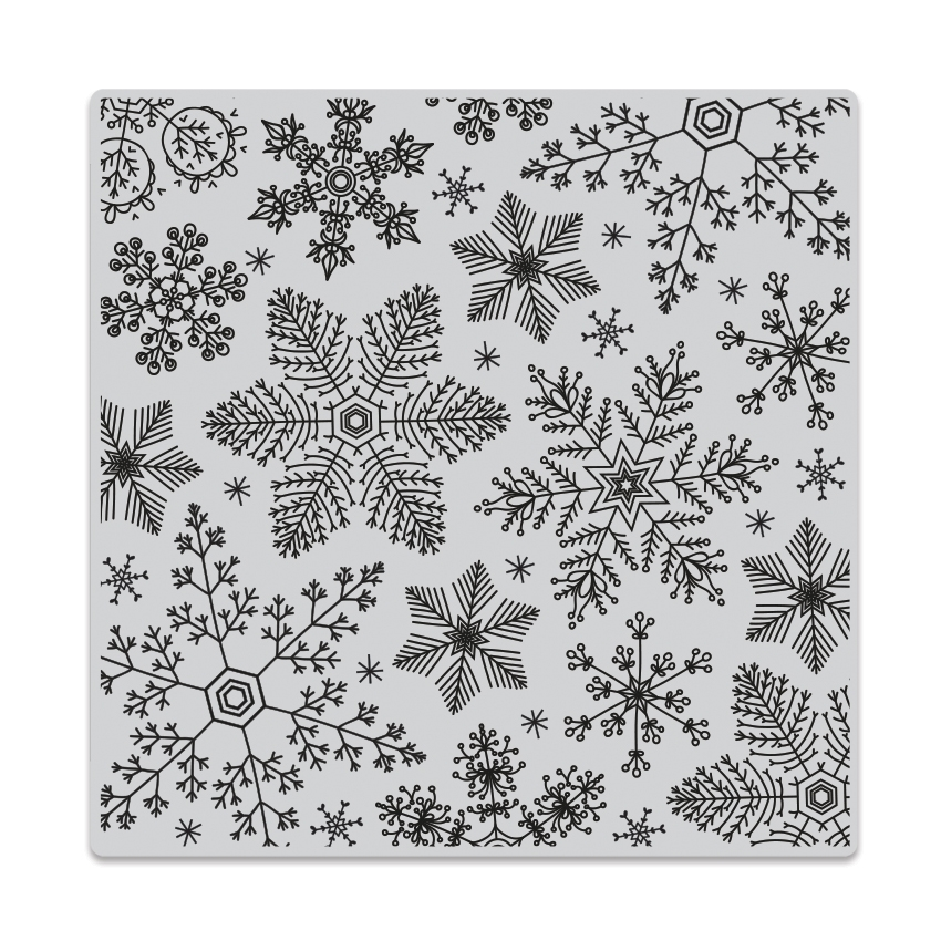 Hero Arts Cling Stamp HAND DRAWN SNOWFLAKES Bold Prints CG685 zoom image