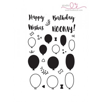 Studio L2E BIRTHDAY WISHES Clear Stamp Set