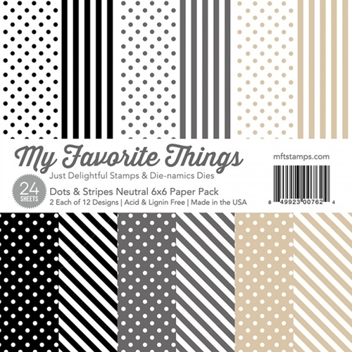 My Favorite Things NEUTRAL DOTS AND STRIPES 6x6 Paper Pack 00762 Preview Image