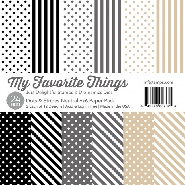 My Favorite Things NEUTRAL DOTS AND STRIPES 6x6 Paper Pack 00762 zoom image