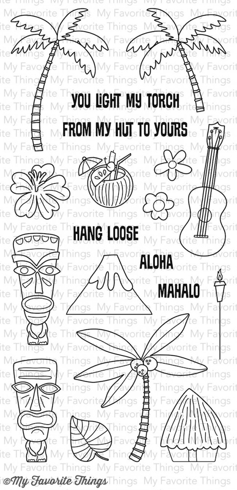 My Favorite Things TIKI PARTY Clear Stamps CS78 zoom image