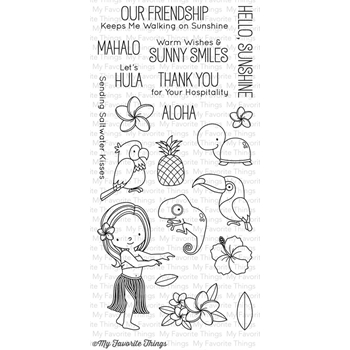 My Favorite Things POLYNESIAN PARADISE Clear Stamps BB22