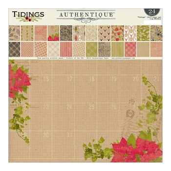 Authentique TIDINGS 12 x 12 Paper Pad TID016*