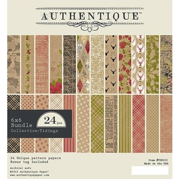 Authentique 6 x 6 TIDINGS Paper Pad TID015
