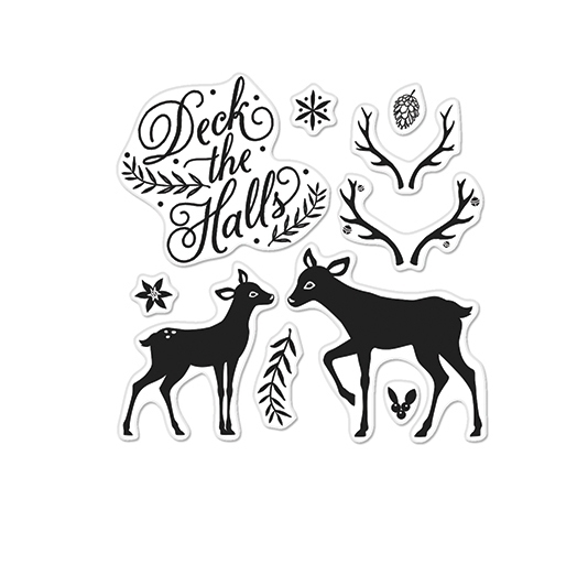 Hero Arts Clear Stamps DECK THE HALLS BY LIA CL898 Lia Griffith zoom image