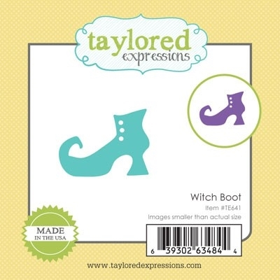 Taylored Expressions Little Bits WITCH BOOT Die Set TE641 zoom image