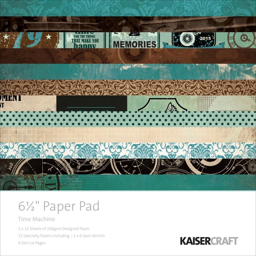 Kaisercraft TIME MACHINE 6.5 x 6.5 Paper Pad PP978 zoom image