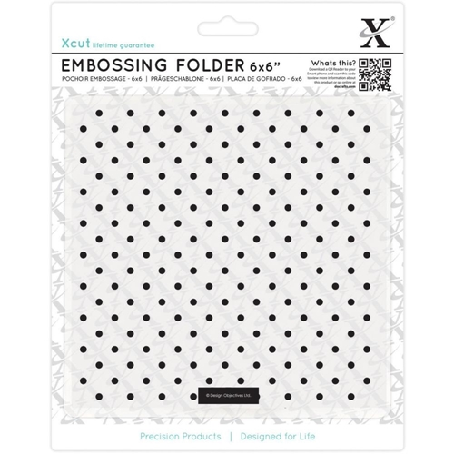 DoCrafts SMALL POLKA DOT XCut Embossing Folder 515170 Preview Image