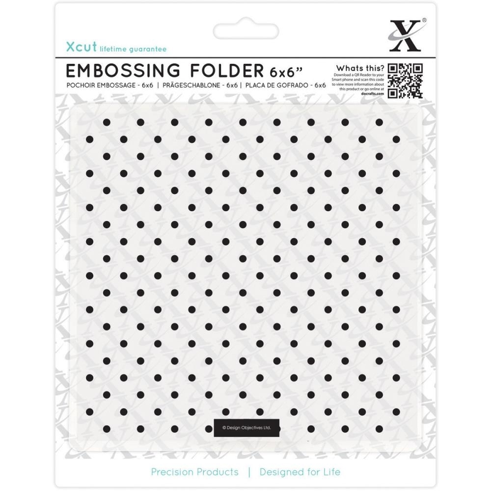 DoCrafts SMALL POLKA DOT XCut Embossing Folder 515170 zoom image