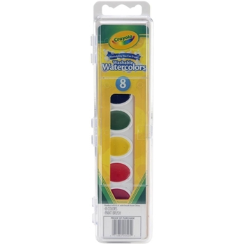 Crayola WASHABLE WATERCOLORS Eight Color Set 0525 *
