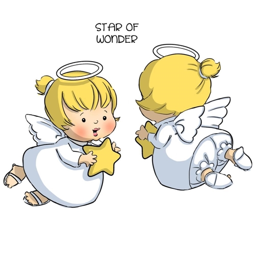 Art Impressions ANGEL SPINNERS Cling Rubber Stamps 4673 Preview Image