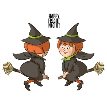 Art Impressions WITCH SPINNERS Cling Rubber Stamps 4679*
