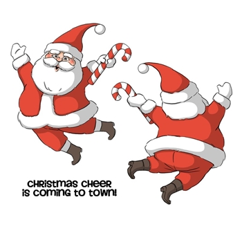 Art Impressions SANTA SPINNERS Cling Rubber Stamps 4678