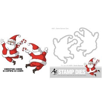 Art Impressions SET AISETSANTA15 SANTA SPINNER Stamps and Dies